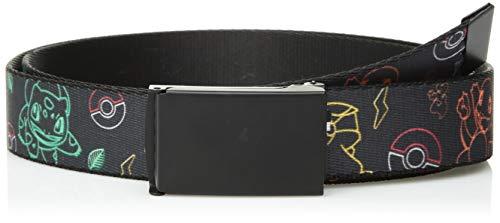 Buckle-Down Web Belt - Electric Kanto Starter Pokemon Black/Multi Color - 1.25