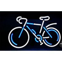 Led Bike Light Review - New Star neon Signs Factory Bike Frame Neon Sign 17''X14'' Real Glass Neon Sign Light for Beer Bar Pub Garage Room.