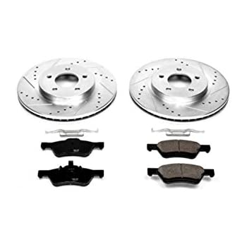 Amazon.com: Power Stop K5571 Front Brake Kit with Drilled ...