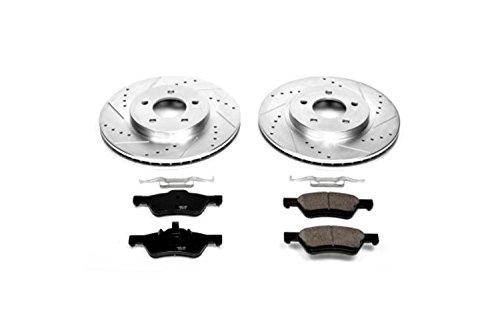 Power Stop K4580 Front Brake Kit with Drilled/Slotted Brake Rotors and Z23 Evolution Ceramic Brake Pads