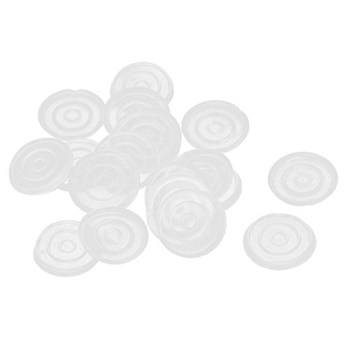 UXcell Plastic Round Non-slip Glass Table Dash Mat Pad 18...