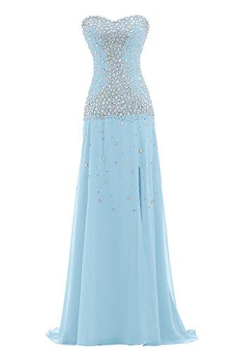 Ivydressing - Vestido - trapecio - para mujer azul celeste