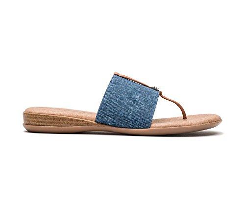 Denim Women's André Sandal Flat Nice Assous wvHfpq85A