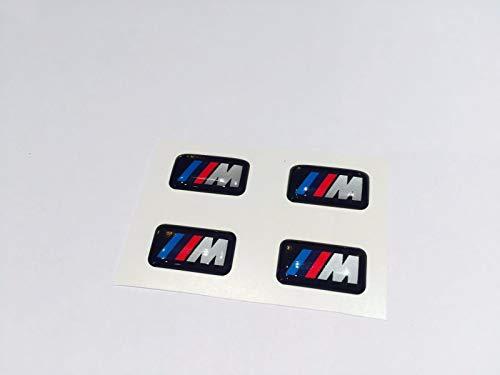 Sunyat 4X for BMW M tec Wheels Rims Alloy Sticker Decal Logo E46 E90 E60 E71 F10 F20 F30