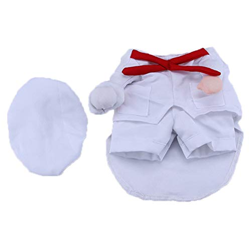 Dog Chef Hat (POPETPOP Dog Halloween Costume Chef Cosplay for Pet Dogs Cats Size)