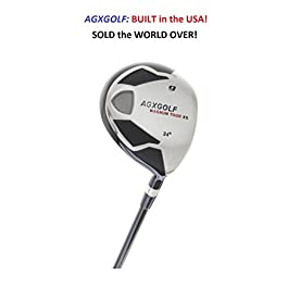 AGXGOLF Men's Magnum XS #9 (24 Degree) Fairway Utility Wood: Graphite Shaft + Head Cover Right Hand, Cadet, Regular or Tall Length, Senior, Regular or Stiff Flex Order Now!