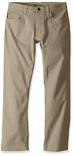 IZOD Men's Saltwater Stretch Flat Front Straight Fit Chino Pant, Pale Khaki, 30W x 32L