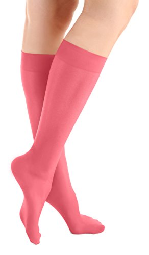 Pink Microfiber Knee High Skating Socks 2-Pair, One Size (Ice Skating Pants)