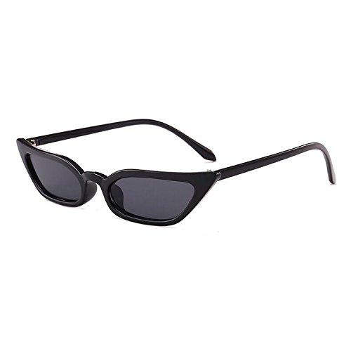 Gafas Chic Y Pequeñas Ojos Sol Caja Fresca Gafas De Personalidad Europeas Gafas Nuevas De Americanas Black Pequeña Sol Black Sol Gafas Moda Tendencias De Gato De qtvrt