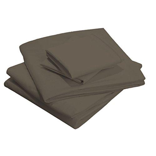 Scalabedding 58,4 cm Poche profonde 100% coton égypcravaten 400 fils Full-xl Taille solide de lit gris foncé
