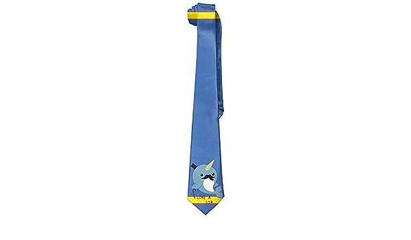 Hombres Corbata Corbata,Corbatas Narwhal Fantasía Casual Moda ...