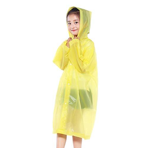 Clearance !Children Raincoat,Fheaven Kids Hooded Jacket Rainsuit Rain Poncho Raincoat Cover Long Rainwear (Yellow)