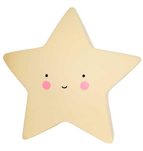 Amarillo A Little Lovely Company LTSY032 L/ámpara en forma de estrella