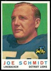Joe Schmidt Detroit Lions - 1959 Topps Regular (Football) Card# 6 Joe Schmidt of the Detroit Lions VGX Condition