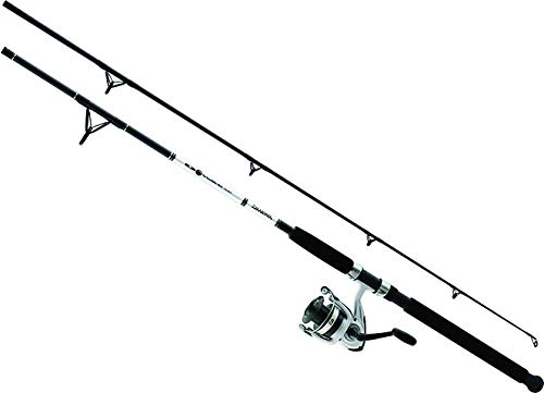 Daiwa DWB40-B/F702M D-Wave Saltwater Spinning Combo, 1 Bearing, 7' Length, 2Piece Rod, Medium Power, Fiberglass Blank Material (Best Inshore Rod And Reel)