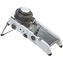 PL8 by Progressive Mandoline Slicer, Multiple Adjustable Thicknesses, Julienne and Waffle Cut, Slicing Ramp, Non-Skid Feet, Vegetable Slicer, Saftey Hand Guard