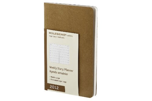 Moleskine 2012 12 Month Cahier Weekly Planner Ginger Pocket (Moleskine Legendary Notebooks (Calendars)) by Moleskine ()