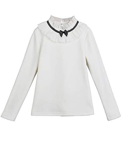 8a7e7184 SITNS Girls Long Sleeve Cotton Shirts Fleece Lining Blouses Age 4 to ...