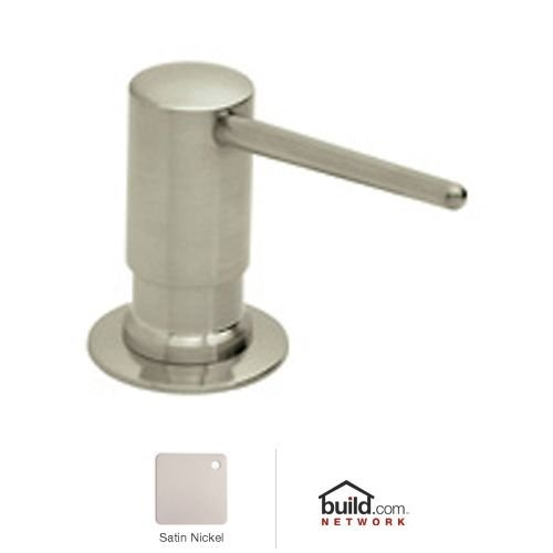 Rohl LS750LSTN Luxury De Lux Shrouded Soap/Lotion Dispenser with 3-1/2-Inch Reach and One Touch System in Satin Nickel by Rohl