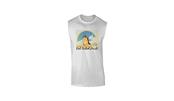 TooLoud Red-Tailed Hawk Text Muscle Shirt