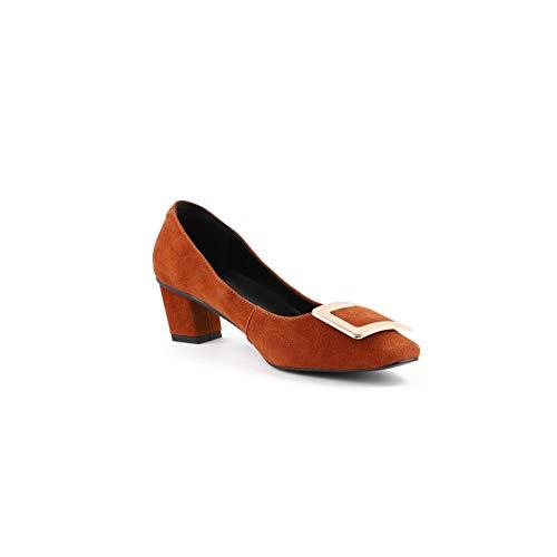 Tacón Marrón Uretano Q1wweut Zapatos Para Mujer De 1to9 Mms06542 d5q8Xdw