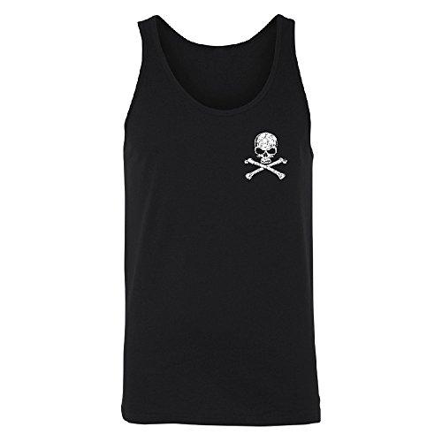 Christmas Ugly Sweater Co Skull Cross Bones Men's Tank Top Pocket Design Pirate Skull and Cross Bones Black X-Large (Bones Tank)