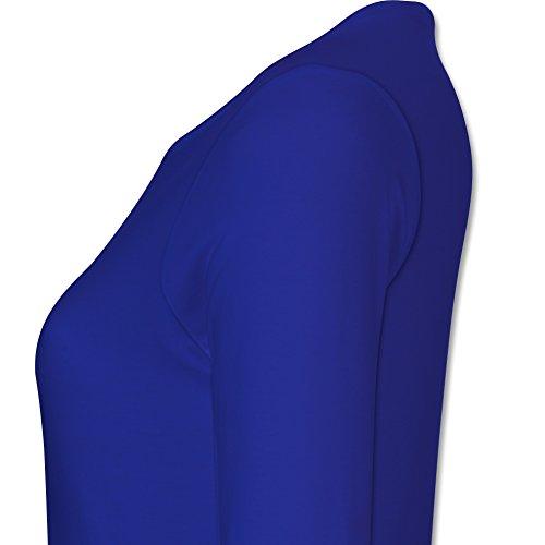 Geburtstag - Einhorn Königinnen Wurden IM August Geboren - XS - Royalblau - BCTW013 - Damen Langarmshirt