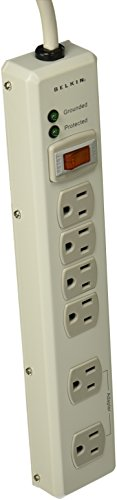 Belkin 6-Outlet Metal Surge Protector with 15' Cord, 885 Joules ()