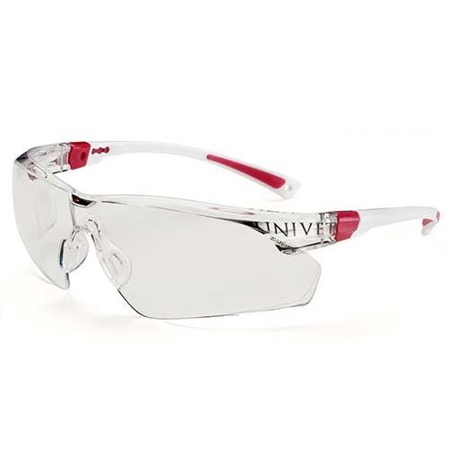 Practicon 7113029 PIN 506 Up Clear Safety Glasses, White/Pink