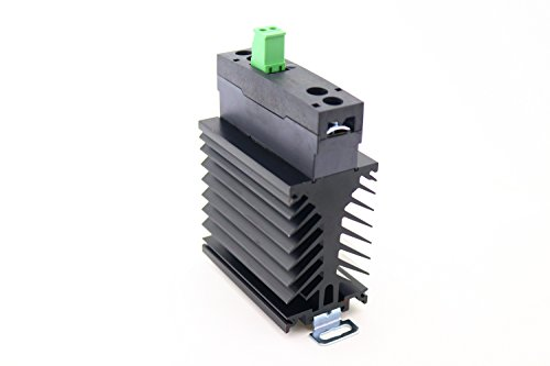 PCS55-D-240A-40Z  40 Amp, 280 VAC Zero Crossing Output   UL Rated   4-32 VDC Input   DIN Rail Solid State Relay with LED and Integrated Heat Sink