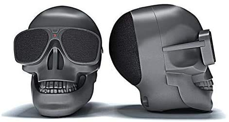Mingyuan Bluetooth Speaker With Skull Head Shape Portable Wireless Speaker For Desktop Pclaptop Notebookmobile Phonemp3mp4 Playercable Charger Gift