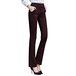ABCWOO Women's Yoga Office Pants Dress Work Slacks Business Casual Trousers,High Waisted,Stretch,Flare