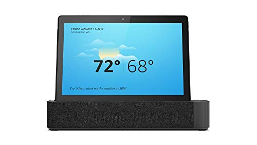 Lenovo Smart Tab M10, 10.1-Inch Alexa-Enabled Android Smart Device Tablet, Octa-Core Processor, 1.8GHz, 16GB Storage, Slate Black Touchscreen Tablet
