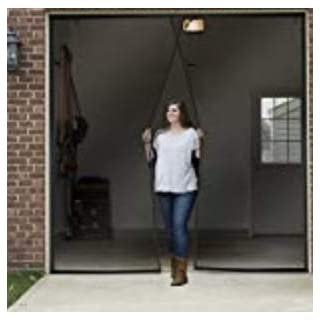 One Single Car Garage Door Screen Weighted Magnetic 9.5 X 7.5 Feet
