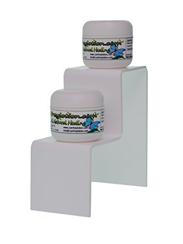 Marketing Holders White Acrylic 2 Tier Counter Top Riser Stand Jewelry Stand (pack of 24) by Marketing Holders (Image #2)