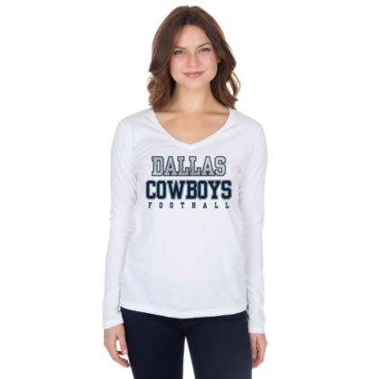 2e8a2ce61a4 Amazon.com : Dallas Cowboys Practice Glitter Long Sleeve Tee : Clothing