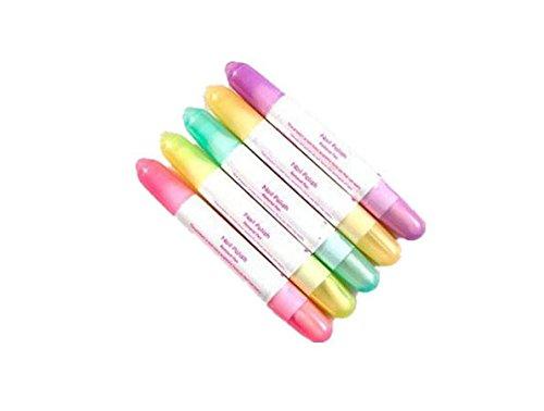 FOONEE Nagellackentferner /Nagellackkorrekturstift,15 austauschbare Spitzen, Farben werden zufällig ausgewählt,5Stück 5Stück Accenter
