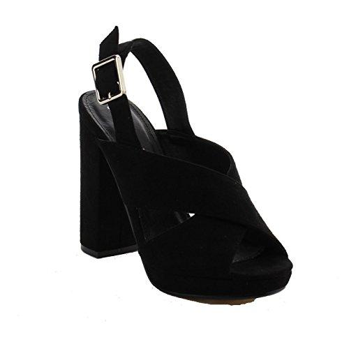 Jacobies Women's Mini Platform Slingback Heel (7, - Mini Slingback Platform Sandal
