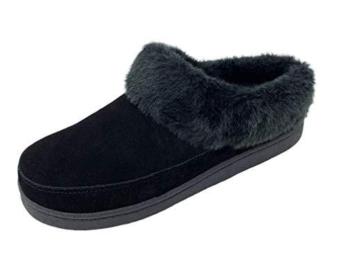 Clarks Womens Faux Fur Lined Clog Slippers Warm Cozy Indoor Outdoor Plush Slipper For Women