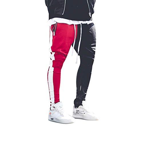 Amazon.com: Pantalón largo para hombre, bloque de color ...