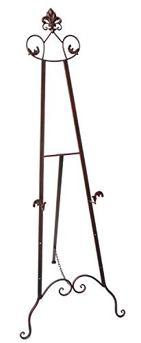 """Designstyles Decorative Metal Easel Stand - Adjustable Floor Display for Art Pieces, Signs, Mirrors and Chalk/Dry Erase Boards - 59"""" Tall, Antique Finished Iron, Bronze - Royal Accents - 2 Pack from Designstyles"""