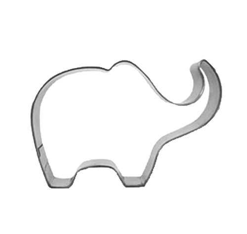 Yunko Lovely Animal Series Stainless Steel Cookie Cutter Fondant Cutter Puppy Cat Giraffe Elephant Rabbit Dolphin Bone (Elephant)