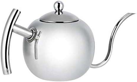 Okuguy グースネックとドリップケトルを注ぐステンレス鋼のコーヒーティーケトルポットコーヒー(1L)