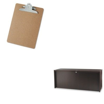 KITMLNACD7224LDCUNV40304 - Value Kit - Mayline Aberdeen Series Laminate Credenza Shell (MLNACD7224LDC) and Universal 40304 Letter Size Clipboards (UNV40304)