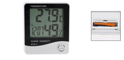 DealMux Digital LCD Max-Min Temperature Humidity Meter Hygrometer Clock