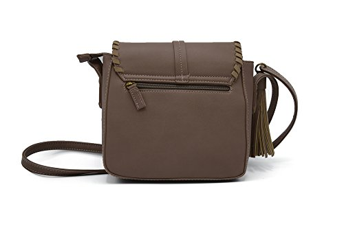 Abbino - Bolso estilo cartera para mujer, color Marrón, talla One size: Amazon.es: Zapatos y complementos