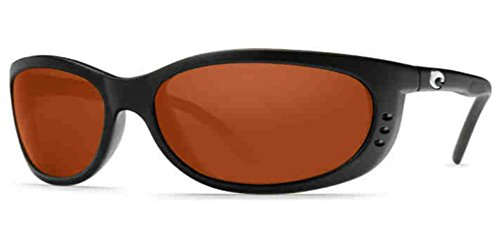 Costa Del Mar Sunglasses - Fathom- Glass / Frame: Matte Black Lens: Polarized Copper Wave 580 - Del 580 Mar Fathom Costa