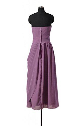 Rose Long Shirred 18 Dress BM810L dusty Dress Strapless Bridesmaid DaisyFormals Evening Chiffon PqSqxTO