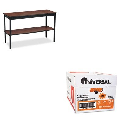KITBRKUTS1848WAUNV21200 - Value Kit - Barricks Utility Table with Bottom Shelf (BRKUTS1848WA) and Universal Copy Paper (UNV21200)