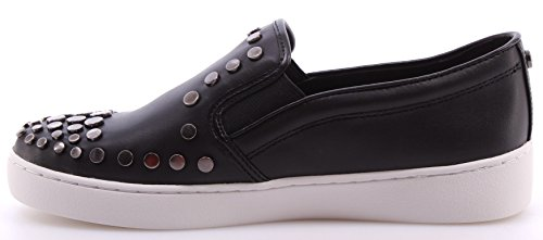 Zapatos Mujeres Sneakers MICHAEL KORS Keaton Slip On Leather Black Studs Negro